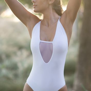 Sofia One Piece Swimsuit in White