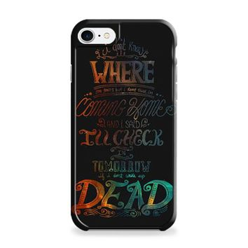 Fall Out Boy Alone Together Lyrics Dark iPhone 6 Plus | iPhone 6S Plus Case