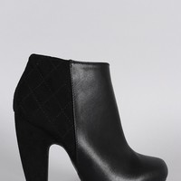 Bamboo Quilted Ankle Bootie
