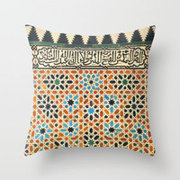 """Lindaraja"" The Alhambra Throw Pillow by Guido Montañés 