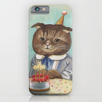 Happy Birthday Kitty iPhone & iPod Case by Christina Siravo