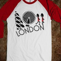LONDON Tour American Apparel Unisex Baseball Tee