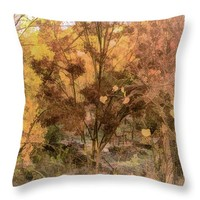 "Golden Autumn Throw Pillow for Sale by Susan Eileen Evans - 18"" x 18"""