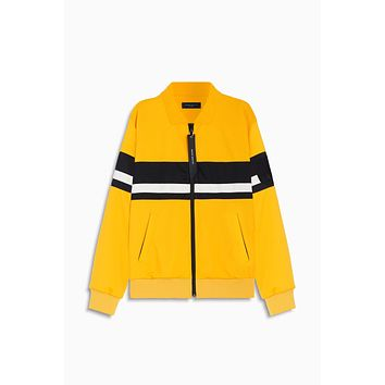 LA track jacket / yellow + black + ivory