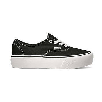 Vans Authentic Platform-Black