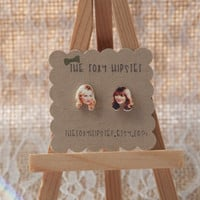 Leslie Knope and Ann Perkins Stud Earrings,  gift idea, cool jewelry, unique, funky, Parks and Recreation, ron swanson, best friends