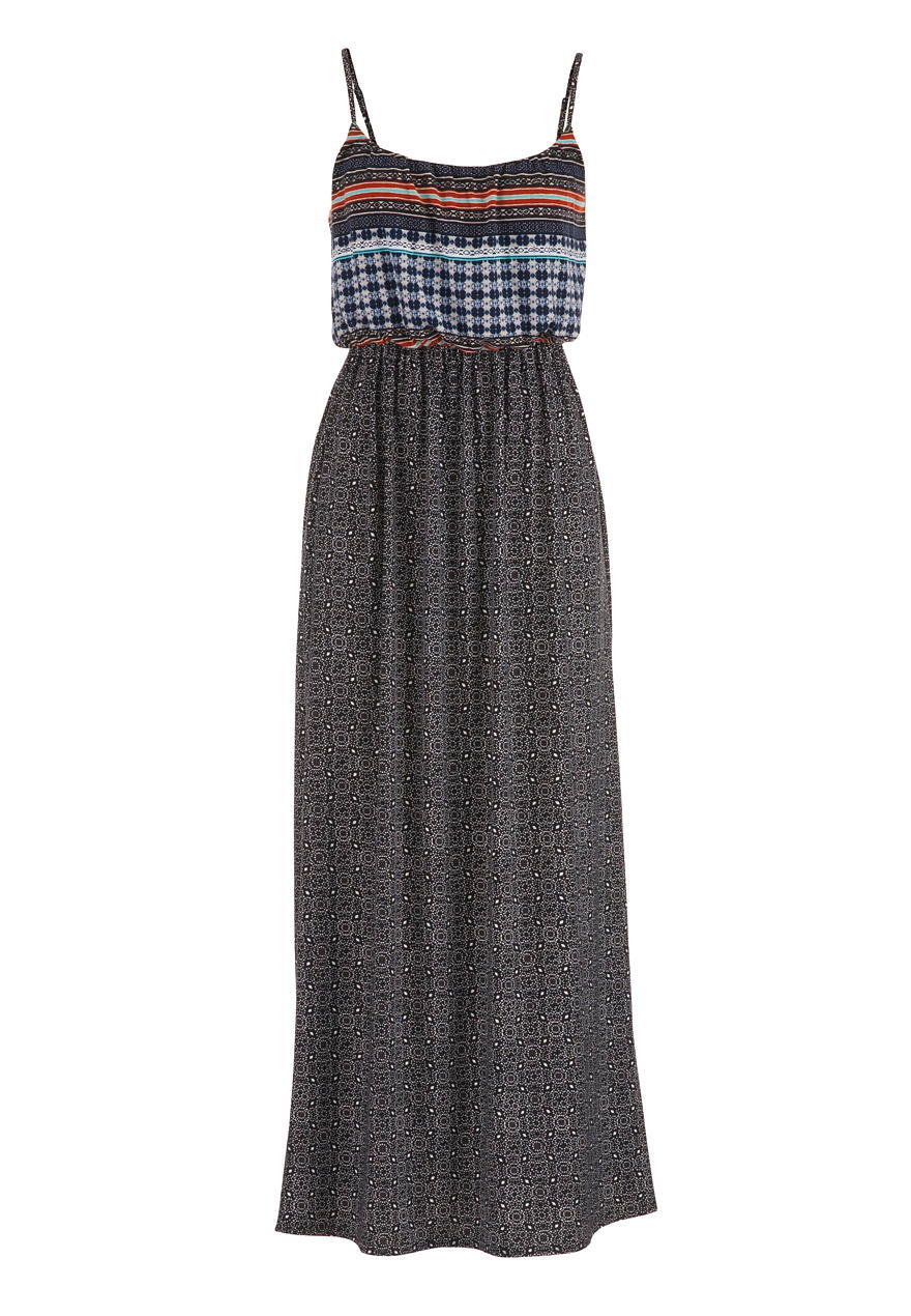 Patterned maxi dress with cinched waist from maurices for Cinched waist wedding dress