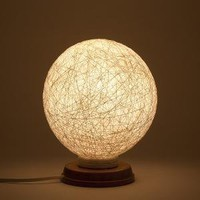 Table lamp accent lamp night light Snowball by FiligreeCreations