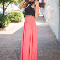 When Life Gives You Love Maxi Skirt, Coral