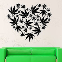 Wall Stickers Vinyl Decal Hemp Cannabis Hippie Rastafarian Reggae (ig1898)