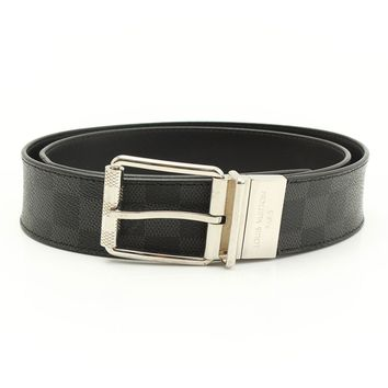 AUTHENTIC LOUIS VUITTON SAN TUR BELT M9156 BC4174 BLACK GRADE AB USED -AT
