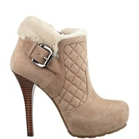 Omelda Quilted Faux-Fur Booties | GUESS.ca