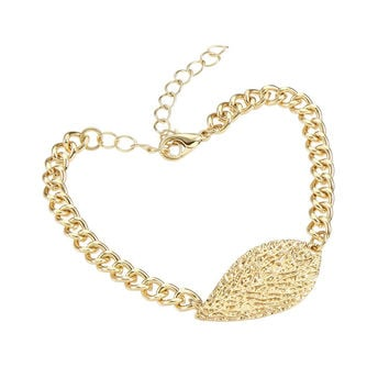 Leaf Shape Chain Bracelet