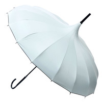 Ivory Polka Dot Pagoda Umbrella