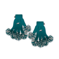 Philadelphia Eagles NFL Spirit Fingerz Embroidered Pom Gloves
