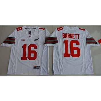 PEAPO2N Nike 2017 Ohio State Buckeyes J.T. Barrett 16 Diamond Quest College Jerseys