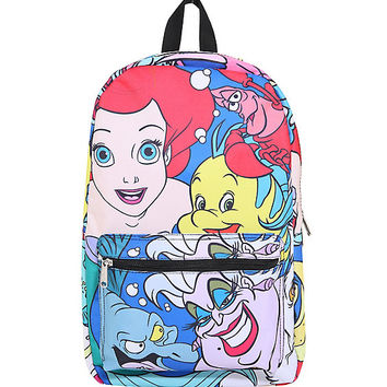Loungefly Disney The Little Mermaid Large Character Print Backpack