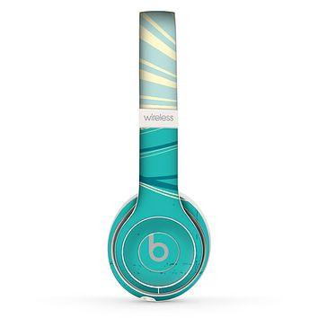 The Retro Vintage Vector Waves Skin Set for the Beats by Dre Solo 2 Wireless Headphones