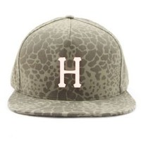 Huf, Shell Shck Metal H Strap-Back Hat - Olive - Other - MOOSE Limited