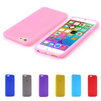 For iPhone 6 6S Candy Color Ultra Thin Soft Silicone TPU Gel Case For Apple iPhone 6 4.7 6S Slim Dirt-resistant Protective Cover