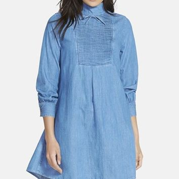 Women's Alexa Chung for AG 'The Julie' Pintuck Pleat Dress,