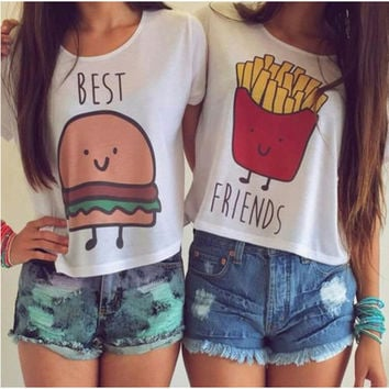 Best Friends Crop Top T-Shirt