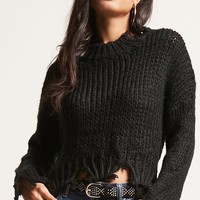 Ripped Ribbed Sweater
