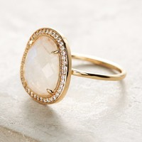 Adella Stone Halo Ring