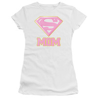 SUPER MOM JUNIORS SHEER CAP SLEEVE V-NECK T-SHIRT
