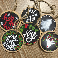 Mini wood slice christmas ornaments