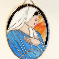 Mother Mary Wall hanging, Holy Virgin Mary Queen of Peace, religious gifts, Virgin Mother, Religious wall hanging, Madonna, Gifts under 100