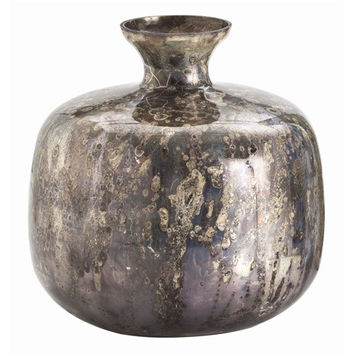 Arteriors Home Marbled Mercury Round Glass Vase - Arteriors Home DK6018