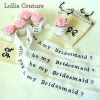 Bridesmaid, Flower Girl, Maid of Honor invitations, Rustic wedding, bridesmaid invitations