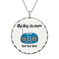 Feel The Beat Necklace Circle Charm