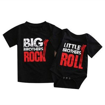 Toddler/Kids/Infant Boys Little Brother & Big Brother Matching T-Shirt