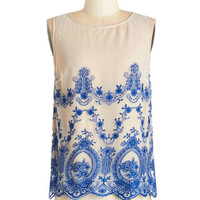 ModCloth Mid-length Sleeveless First Day Fabulous Top