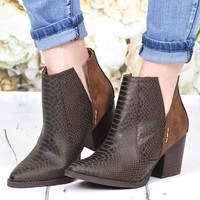 Not Rated: Tarim Block Heel Bootie {Tan}