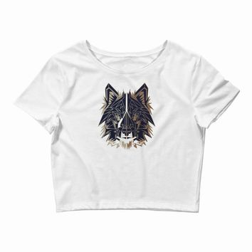 polygon wolf Crop Top