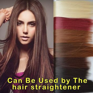 Sexy Girl Soft Straight Clips in on Hair Extensions Hairpiece = 5658538753