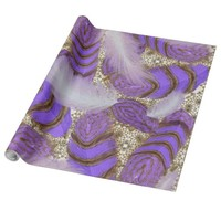 Pattern of precious lilac-white feathers wrapping paper