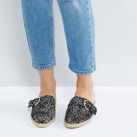 The March Spotted Flat Mules at asos.com
