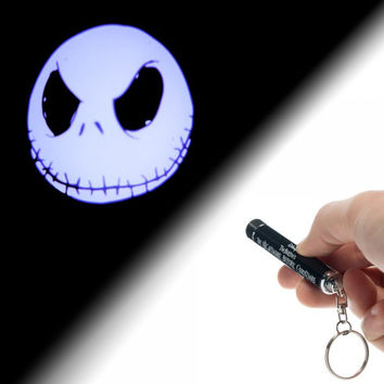 Nightmare Before Christmas Jack Logo Flashlight Keychain