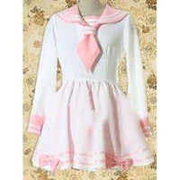 Pink Sailor Knot Bow Lolita Dress Free Shipping - wholesale Lolita Dresses - wholesale Lolita Clothing