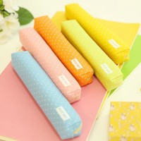 Creative color pencil with small canvas pen School Stationery  kawaii