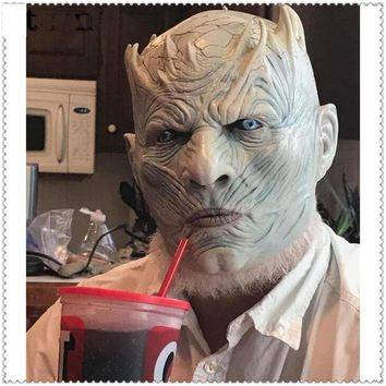 Latex Game of Thrones Night King Party Mask Cosplay Full Walker Face Halloween Zombie