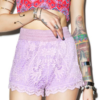 Rise of Dawn Summer Day Shorts Lilac