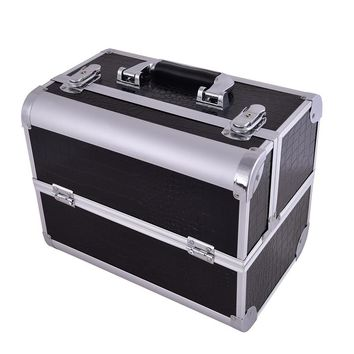 Make up Box Makeup Case Beauty Case Cosmetic Bag Multi Tiers Lockable Jewelry Box