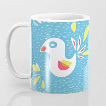 Abstract Bird In Spring Coffee Mug by borianagiormova
