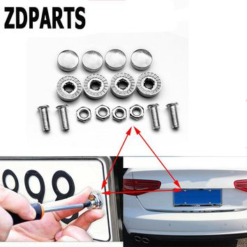 ZDPARTS 16X Car Styling License Plate Nuts Bolts Screws Cover For Ford Focus 2 3 Fiesta Mondeo Kuga Kia Rio Ceed Sportage 2017