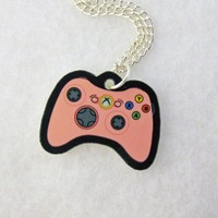 Pink XBOX 360 Controller Necklace by egyptianruin on Etsy